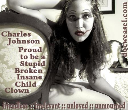 charles johnson insane broken child clown